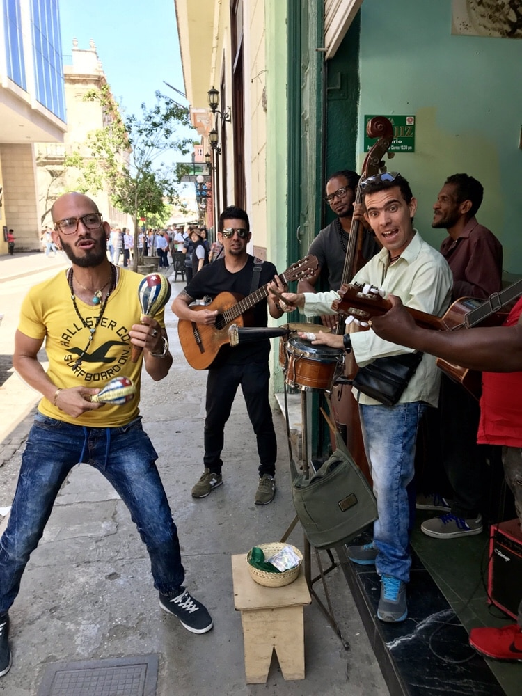 Salsa dancing on the streets of old Havana