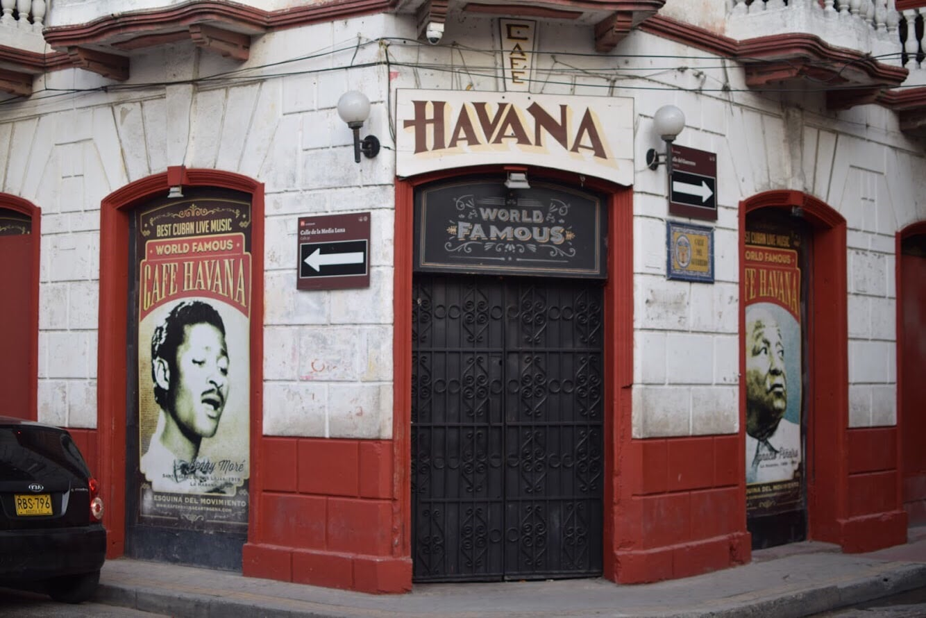 Travel to Cartagena Colombia Cafe Havana