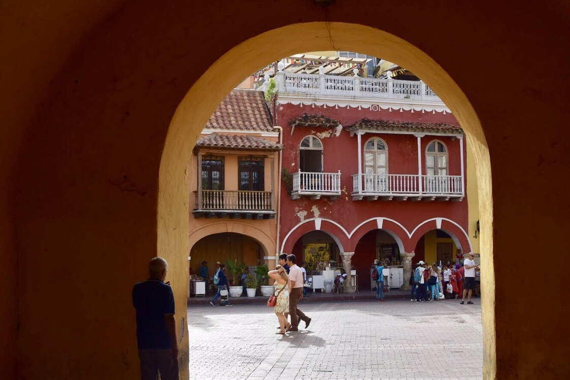 Travel to Cartagena Colombia Walled City Gate