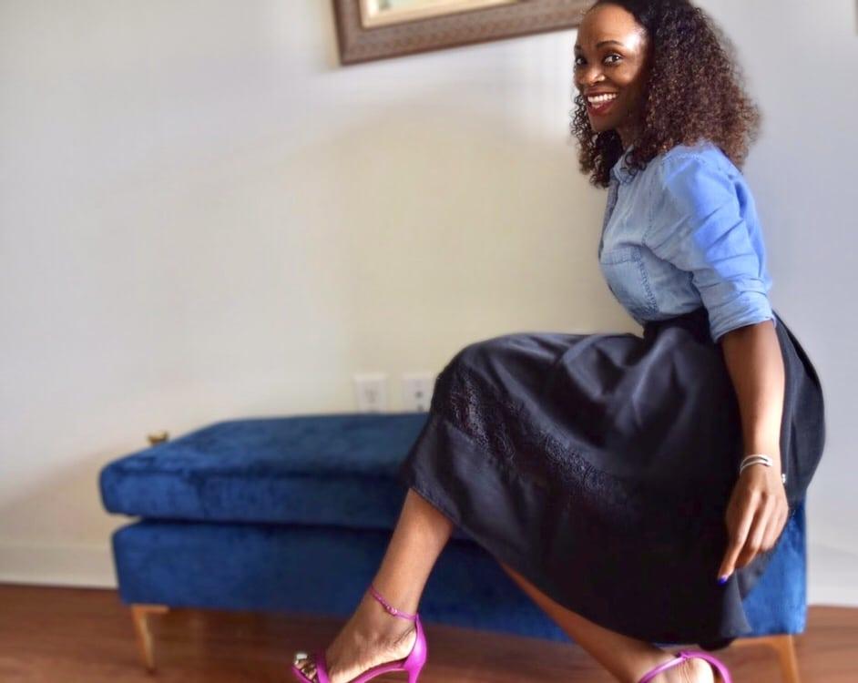 A-line midi skirts 2