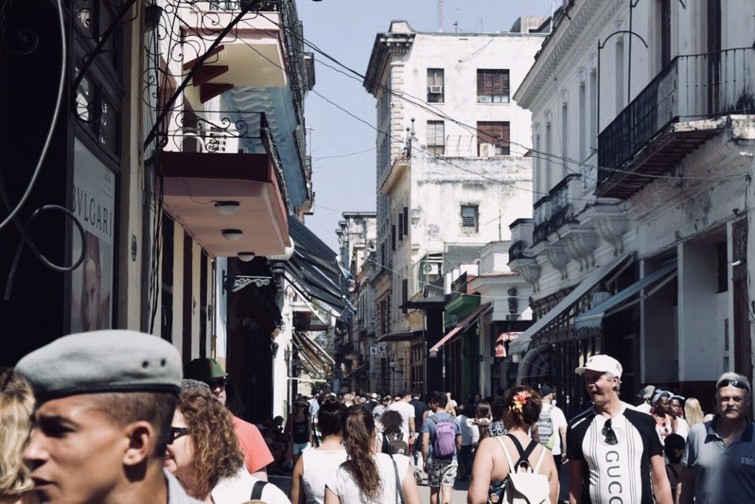 Tourists in Old Havana