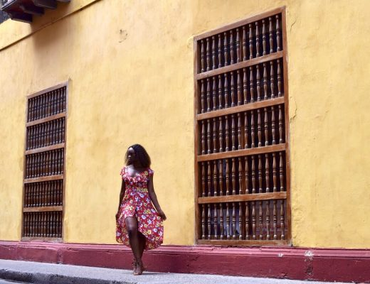 Travel to Cartagena Colombia red floral spring dress