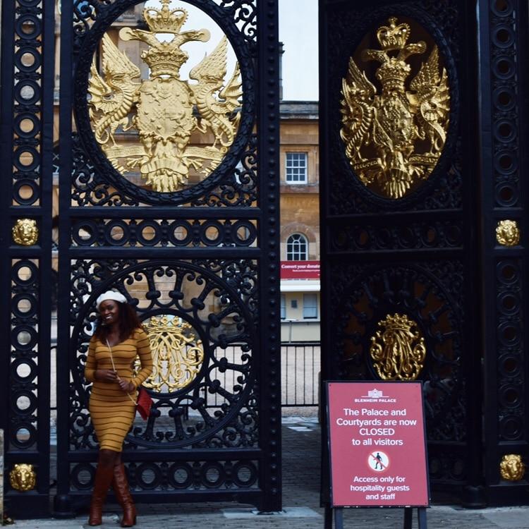 Blenheim Palace Gates Belle in Transit