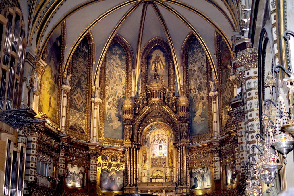 Barcelona Santa Maria de Montserrat Abbey Belle in Transit